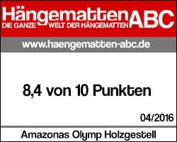 Testsiegel Amazon Olymp: 8,4 von 10 Punkten