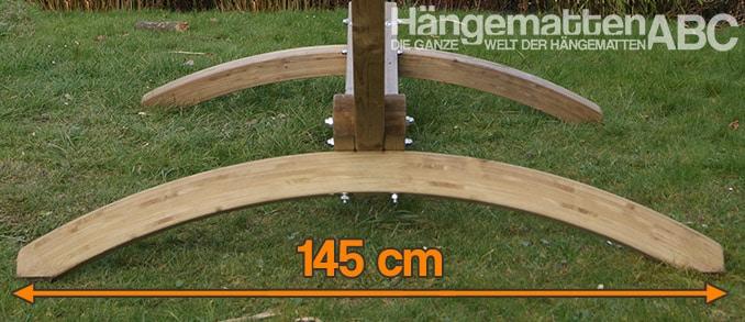 Breite der Olymp Hängemattengestells: 145 cm