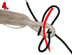 Hängematten Knoten machen Schritt 4
