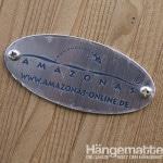 Amazonas Plakette auf Hängemattegestell