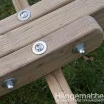 Verschraubungen der Holzteile des Olymp