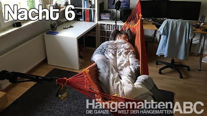In der Hängmatte Schlafen - Nacht 6