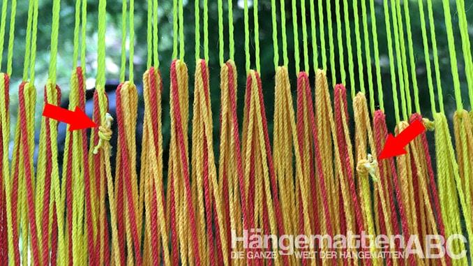 Mexikanische Netzhängematte Gewebe mit Knoten