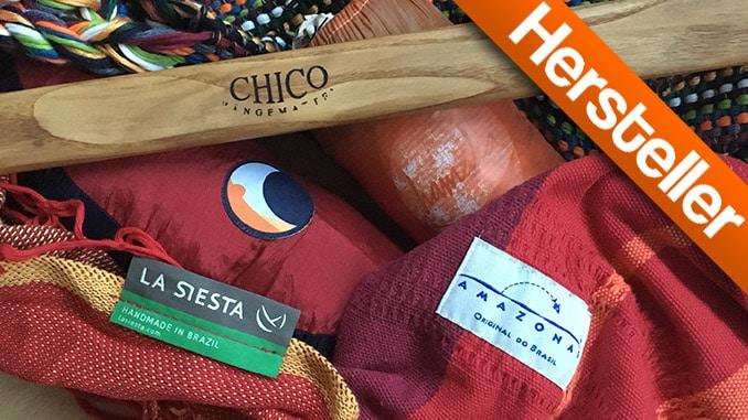 Bild verschiedener Hängematten Hersteller und Marken Logos