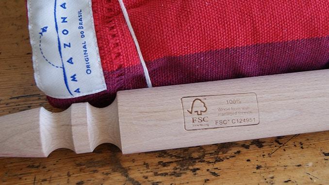 FSC Siegel im Holz