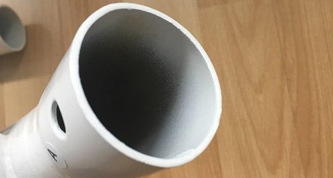 Pulverlackierung eines Rohres des Hängemattengestells